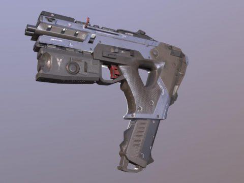 Alternator 3D gun model