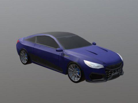 3D car Coupe model