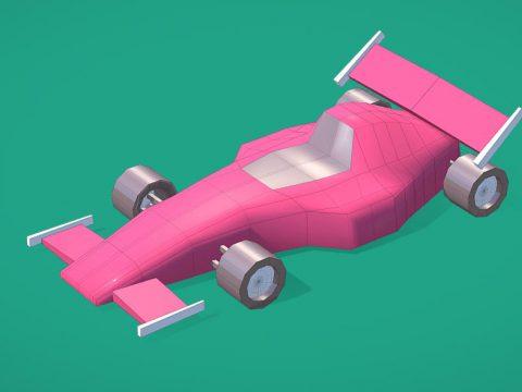 Formula1 Racing Car - Low Poly