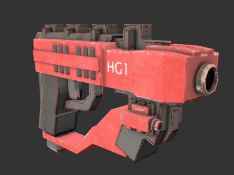 Hand Gun 3D model