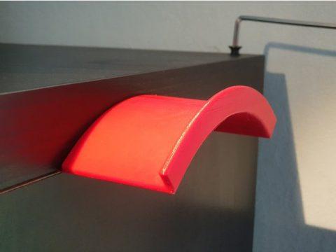 Headphone holder insertable in an Ikea Kallax corner