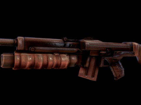 Heavy Machinegun 3D model