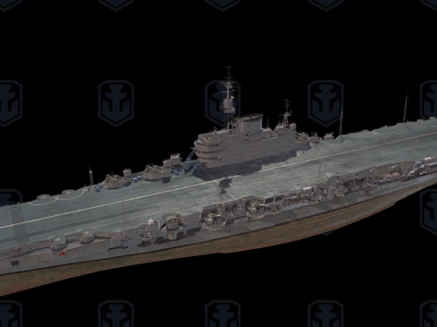 Implacable 3D ship model