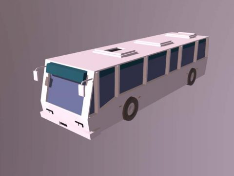 Low Poly Bus 3D model