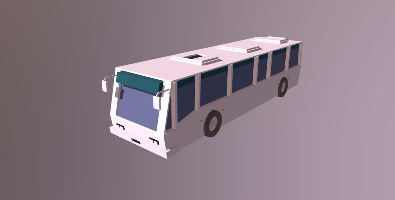Low Poly Bus 3D model