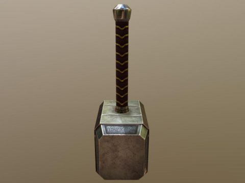 Low Poly Hammer