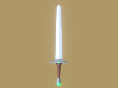 Low-Poly Sword 3D model