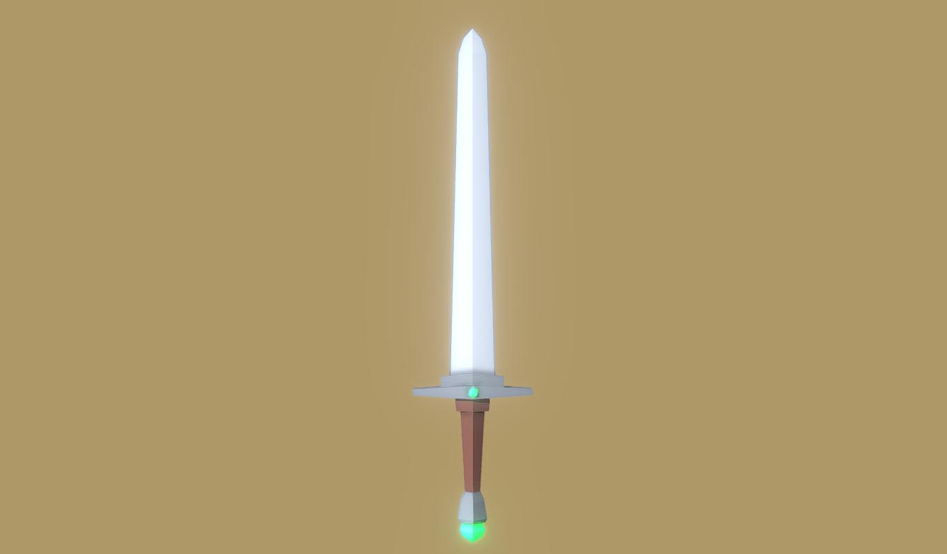 Low-Poly Sword 3D model