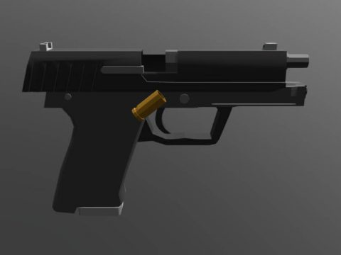 Low Poly Usp (Shooting up)