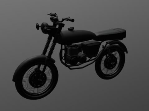 Motorcycle Honda cargo 150 3D model