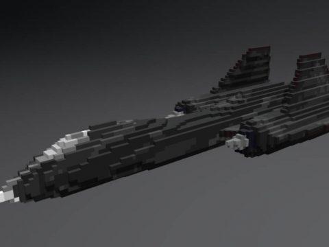 SR71 Blackbird Voxel