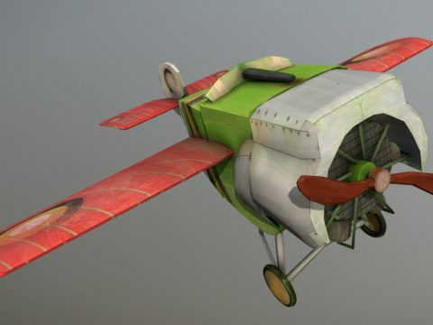 Stylized Plane a Fokker E.II