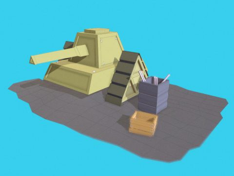 War Tank - Low Poly