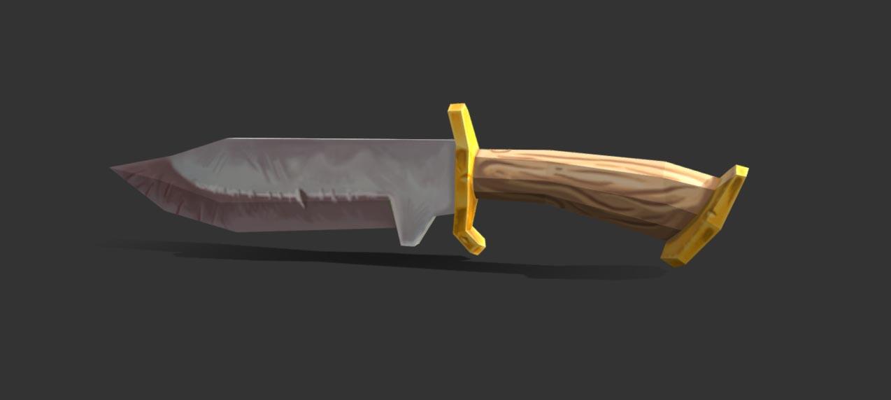 White Knife 3D model