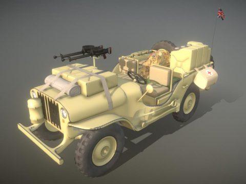 Willys Jeep SAS Desert Patrol Car