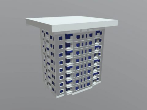 Apartment 3D Building