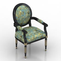 Armchair Louis XVI Classic 3d model