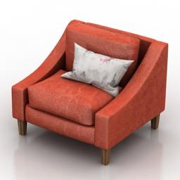 Armchair big 3d model