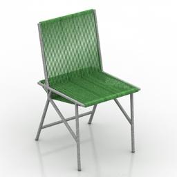 Chair La Redoute Chaise Lot II 3d model