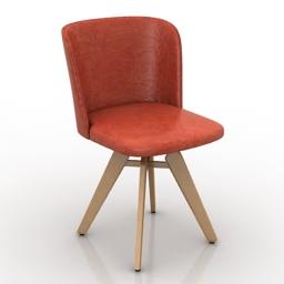 Chair Mulan Cattelan Italia 3d model