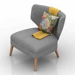 Chair Retro Wing 3d model