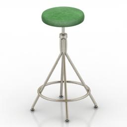 Chair bar retro 3d model