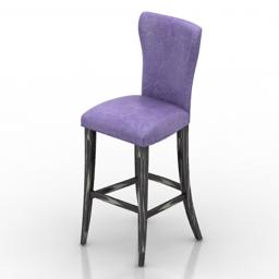 Chair bar vaccari international venezia beatrice 3d model