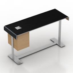 Desk B&B Italy Eileen 3d model