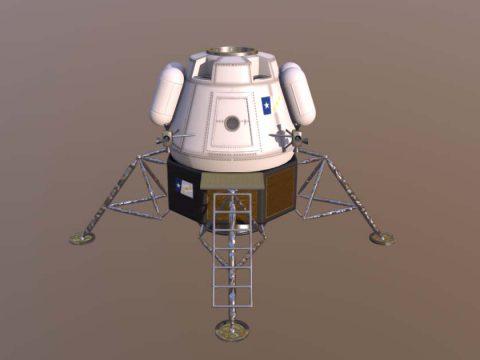 Lander Model 3D model