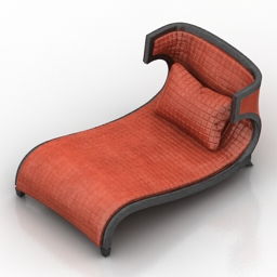 Lounge Briarwood Finished Chaise 3d model