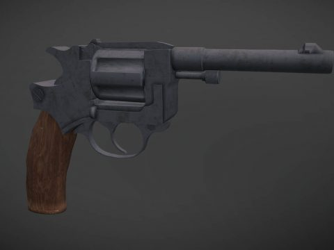 PUBG Mobile Revolver Low Poly Gun Model