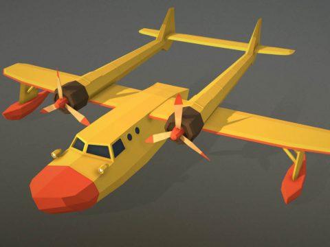 Polygon-Runway's sea duck plane