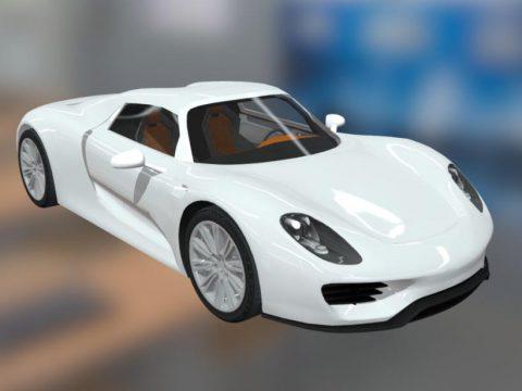 Porsche 918 3D car model