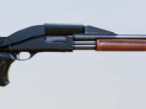 Remington 870 Magnum SAWED - medium poly