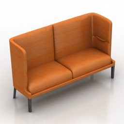 Sofa High Back 3d model