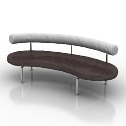 Sofa flexform 3d model