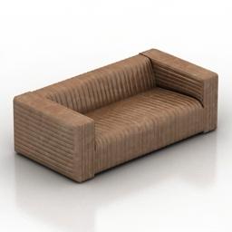 Sofa leather 3d model
