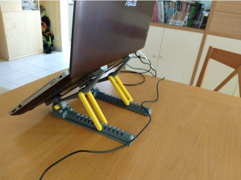 Strong Light Repositionable Laptop Stand