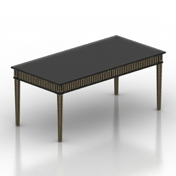 Table black 3d model