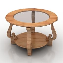 Table classic ovacia-c 3d model