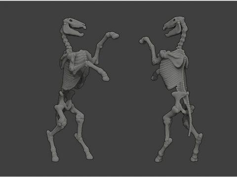 Undead Skeleton Horse - D&D Miniature