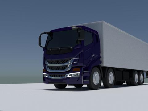 4 axle box truck