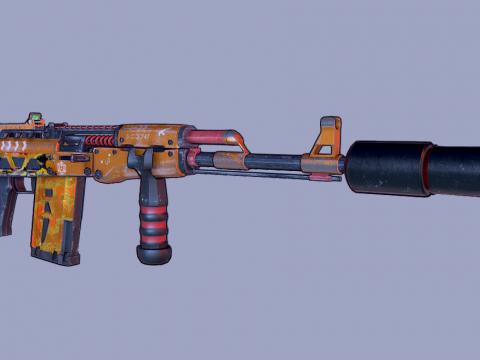 AK 47 Stylized