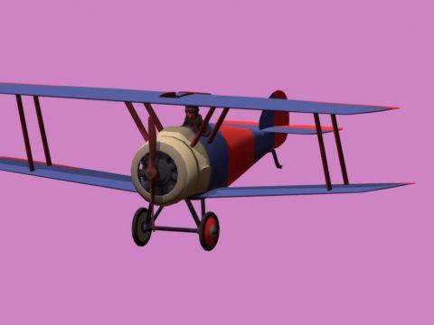 Airplane Vertex Color Unlit