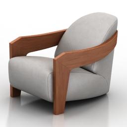 Armchair Blanche Moko 3d model