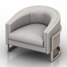 Armchair Thayer Coggin Formdecor 3d model