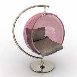 Armchair ball 3d model