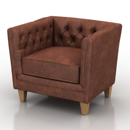 Armchair chester 3d model