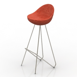 Chair bar Cicco 3d model