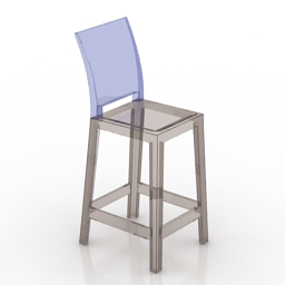 Chair bar One More Please stool Philippe Starck Kartell 3d model